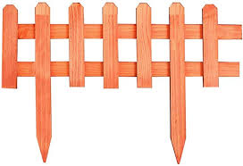 Subbye Wooden Picket Fence Instant Fence Panels Freestanding Border Edge Fence For Lawn Patio Garden Residential 60 40cm Thickness 1cm 3 Colors Color Orange Amazon Co Uk Kitchen Home