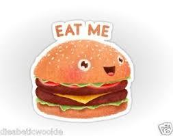 Hamburger Cheeseburger Fast Food Burger Sticker Decal Car Laptop Scrapbook Ebay