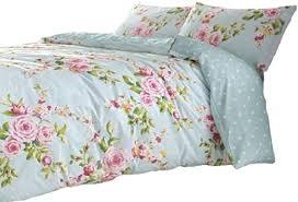 cotton full pink blue rose fl