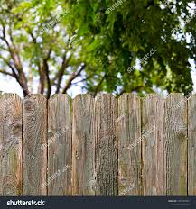 Rustic Wood Fence Provides Backyard Privacy Stock Photo Edit Now 1477762943