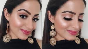 glossy glowy makeup for dull skin in