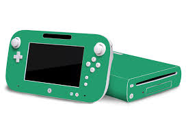 Turquoise Nintendo Wii U Gaming Console Skin Decal