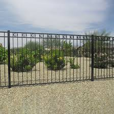 Simple Wrough Iron Fence For Front Yard