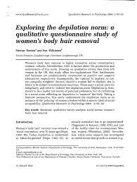pdf exploring the depilation norm a
