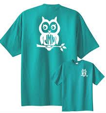 Owl Monogram T Shirt Underthecarolinamoon Com