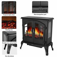 small electric fireplace space heater