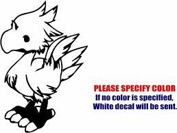 2pcs Vinyl Decal Sticker Chibi Chocobo Final Fantasy Car Truck Bumper Jdm Fun Wish