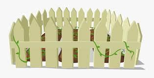 Transparent White Picket Fence Png Garden Fencing Clipart Free Transparent Clipart Clipartkey