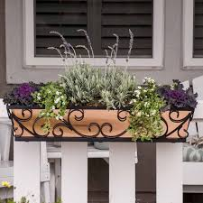 Railing Planter Inspiration For Rail Top Planters Inspiration For Window Boxes For Deck Railing Ins Railing Planters Balcony Railing Planters Metal Flower Pots