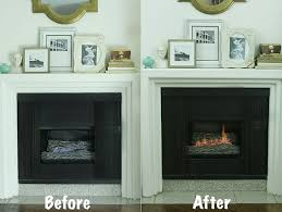 gas fireplace into a wood burning fireplace
