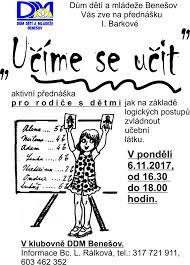 Akce - Učíme se učit - Dům dětí a mládeže Benešov