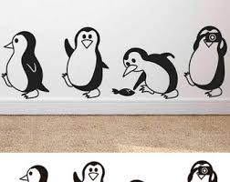 Penguin Decal Etsy