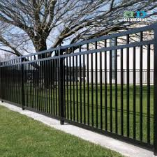 Black Wrought Iron Front Yard Fence With Decorative Metal Artworks And Swing Gate Buy Wrought Iron Fence Front Yard Fence Decorative Metal Artworks Product On Alibaba Com