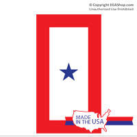 Decal Service Flag 1 Blue Star