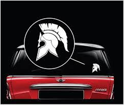 Spartan Helmet Molon Labe Window Decal Sticker A1 Custom Sticker Shop
