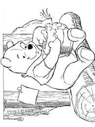 Kids N Fun Kleurplaat Winnie De Pooh Honing Eten