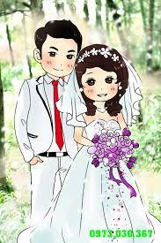 Nhận vẽ thuê chibi theo ảnh yêu cầu 50k: Chibi ảnh cưới đẹp