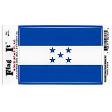 Amazon Com Honduras Flag Car Decal Sticker 3 5x5 Blue White Everything Else