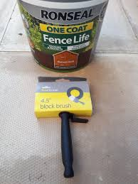 Ronseal One Coat Fence Life Brush In Cw11 Sandbach For 7 00 For Sale Shpock