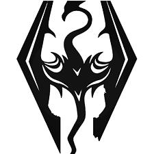 Skyrim Dragons Gaming Vinyl Decal Sticker