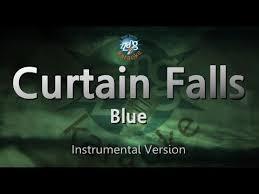 curtain falls blue karaoke videoke