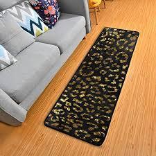 leopard print animal skin kitchen rugs