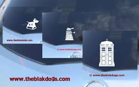 Police Call Box Robot And Robot Dog Collection Vinyl Car Decal Sticker Blakdogs Vinyl Designs