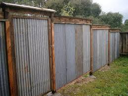 All Recycled Corrugated Metal Fence Lush Planet Design Buildgallery Privacy Fence Designs Corrugated Metal Fence Backyard Fences