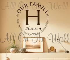 Personalized Family Name Wall Decal Last Name Decal Vinyl Etsy Name Wall Decals Family Wall Decals Vinyl Wall Decals Family