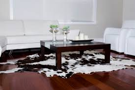 using faux sheepskin and cowhide rugs