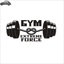 Car Gym Sticker Fitness Crossfit Barbell Decal Body Building Posters Vinyl Wall Decals Pegatinas Car Car Stickers Decalsvinyl Car Decal Aliexpress