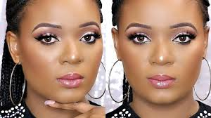 neutral makeup tutorial for dark skin