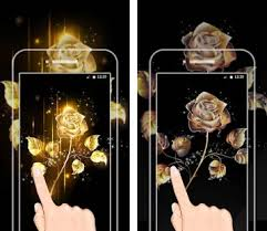 gold rose live wallpaper apk