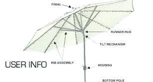 patio umbrella parts tilt mechanism