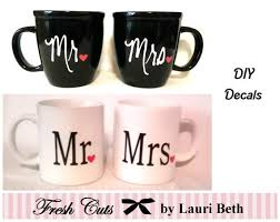 Vinyl Decal Mr And Mrs Decals Diy Gift Wedding Anniversary Love Coffee Mug Travel Mug Yeti Decal Engagement His And Hers Diy Gift Diy Wine Glasses Wedding Decal Mugs
