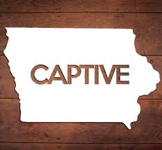 Iowa Captive Vinyl Sticker Car Window Door Bumper Decal Pride Etsy
