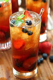 very berry iced tea with honey mint