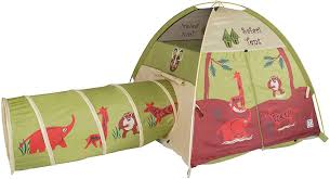 Amazon Com Pacific Play Tents 20435 Kids Safari Fun Dome Tent Crawl Tunnel Combo Indoor Outdoor Fun Multicolor Toys Games