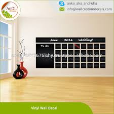 Blackboard Vinyl Wall Decal Calendar With To Do List Buy Blackboard Vinyl Wall Decal Vinyl Wall Decal Month Planner Sticker Drawing Product On Alibaba Com