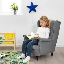 Strandmon Children S Armchair Vissle Gray Ikea