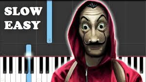 La Casa De Papel - Bella Ciao (SLOW EASY PIANO TUTORIAL) - YouTube