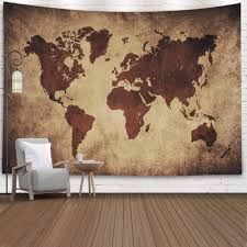 Amazon Com Capsceoll Map Tapestry Kids Funny Tapestry Dorm Room Wall Decor College Room Decor Brown World Map Tapestry Dorm Decorations Wall Hangings For College Decor 80x60 Inches Brown Black Home Kitchen