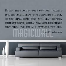 Ralph Waldo Emerson Wall Quotes Lettering