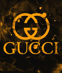 Gucci Logo Gold Yellow 2 Round Beach Towel For Sale By Del Art
