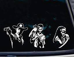 Amazon Com Ultimate Walking Dead Set Of 3 Daryl Rick And Michonne Various Sizes Die Cut Vinyl Decal For Windows Cars Trucks Vehicles Virtually Any Hard Smooth Surface Not Printed Automotive