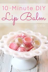 10 minute diy lip balm happiness is