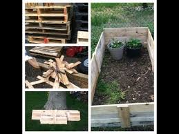 raised garden bed with pallets