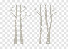 Tree Paper Birch Wall Decal Silver Sticker Forest Transparent Png