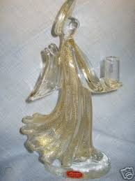 vintage murano glass angel candle