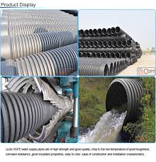 black rigid pe corrugated drainage pipe